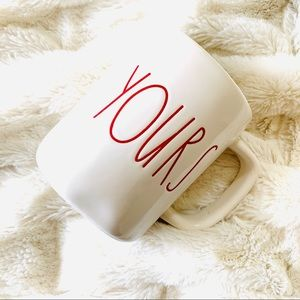 LIMITED TIME! NWOT Rae Dunn Red Yours Mug
